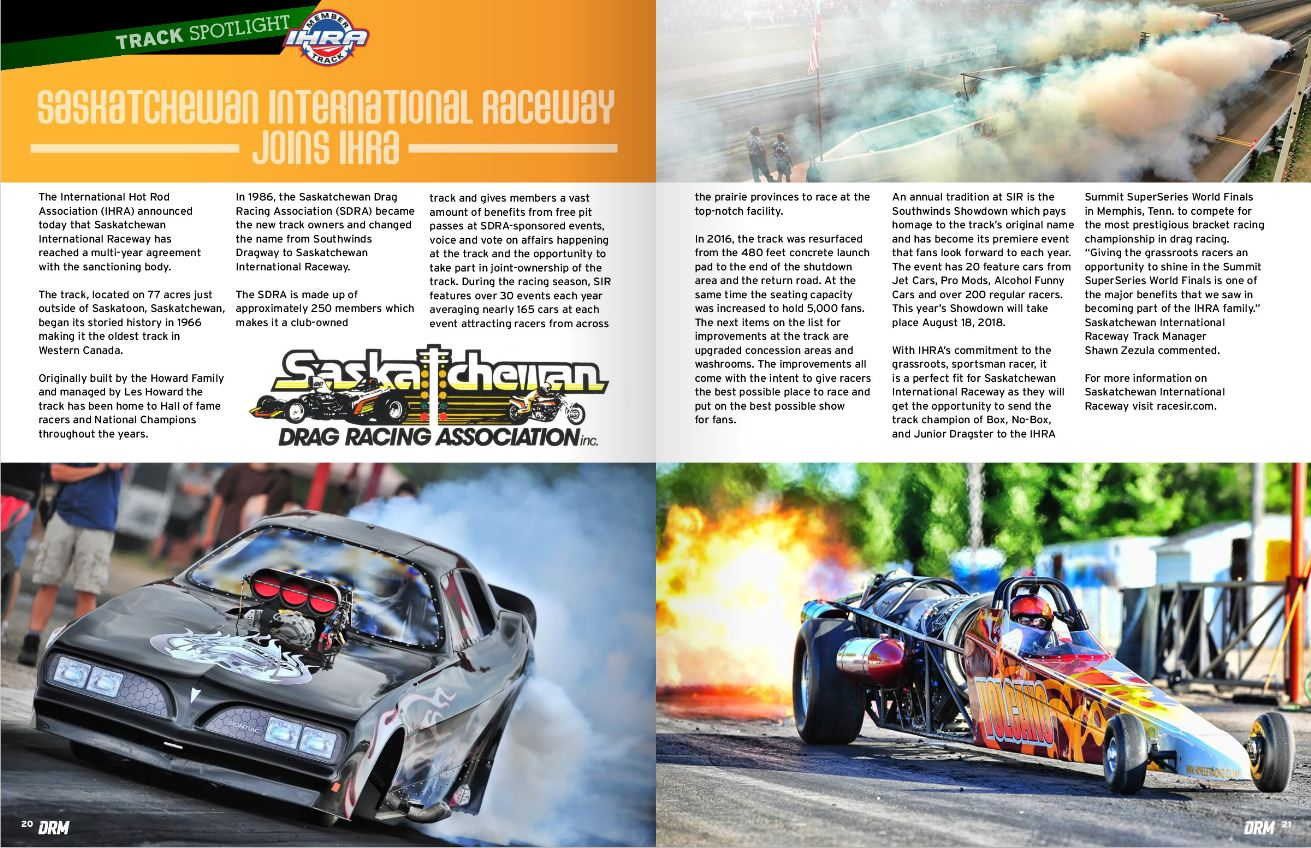 Latest New from SIR - Saskatchewan International Raceway - IHRA Drag